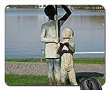 Mauspad - Schwerin Statue Regenschirm