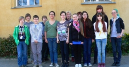 ''Die Fairtraders des Fritz': Dies sind die Akteure der ''Fairtrade-School'' in Schwerin. (Foto: Eine-Welt-Verein Schwerin)