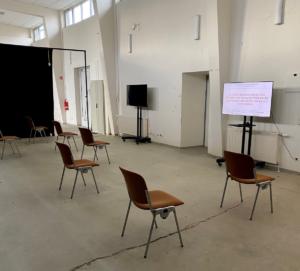 Wartebereich Impfzentrum ©Landeshauptstadt Schwerin_Jacqueline Saß